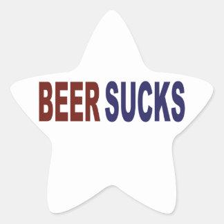 Beer Sucks Star Sticker