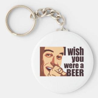 Beer t-shirt basic round button keychain