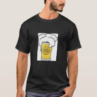 BEER  T SHIRT  MENS   BLACK