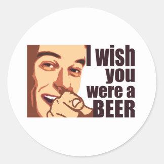 Beer t-shirt round stickers