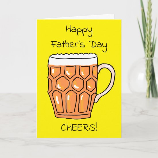 Beer Tankard Father's Day Card