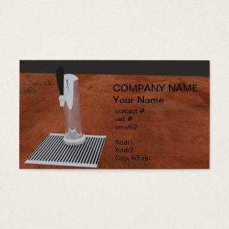 beer tap business card