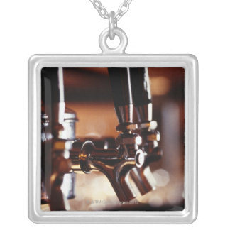 Beer Taps Silver Plated Necklace