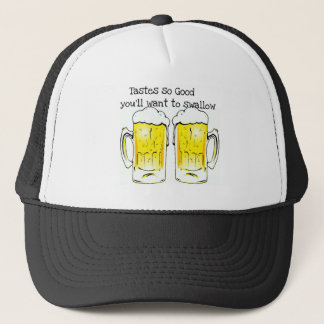 BEER: TASTES SO GOOD YOU'LL WANT TO SWALLOW TRUCKER HAT