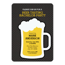 Beer Tasting Bachelor Party Invitation