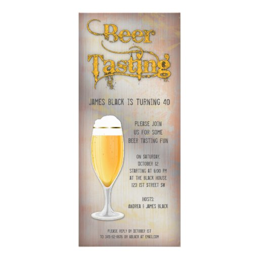 Personalized Beer tasting Invitations – Beer Tasting Party Invitations