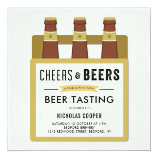Beer Tasting Birthday Party Invitation