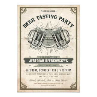 Beer Tasting Invitation | Vintage Retro