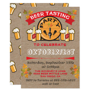 Beer Tasting Oktoberfest Party Invitations