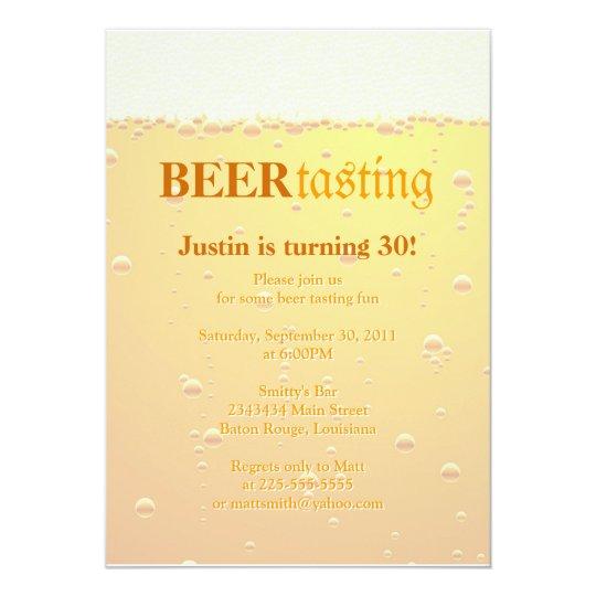 Beer Tasting Party Card