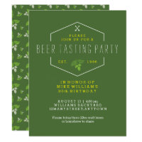 40th birthday party invitations announcements zazzle beer tasting party invitation 30th birthday 40th filmwisefo Image collections