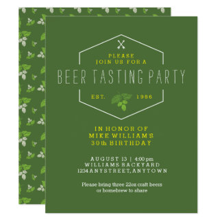 Beer Tasting Party Invitation, 30th Birthday, 40th Card