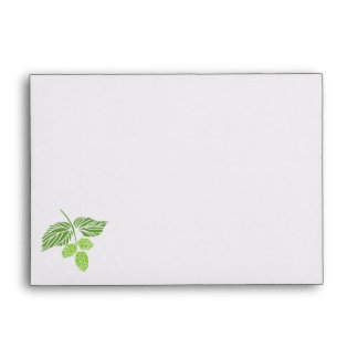 Beer Tasting Party Invitation Envelope, hops Envelope