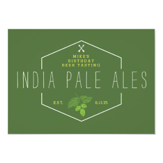 Beer Tasting Party Signage, IPA, India Pale Ale Card