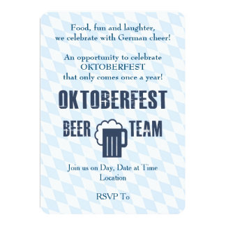 Beer Team Oktoberfest Party Invitations
