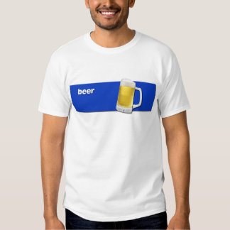 BEER Tee with text and beer mug graphic