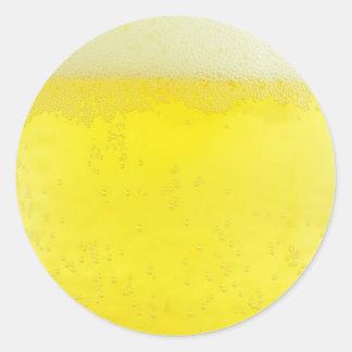Beer texture design classic round sticker