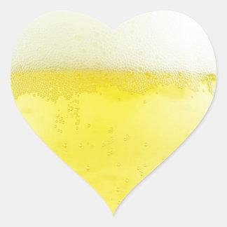 Beer texture design heart sticker