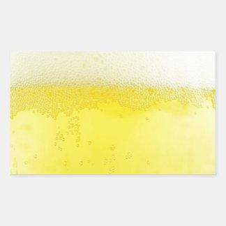 Beer texture design rectangular sticker