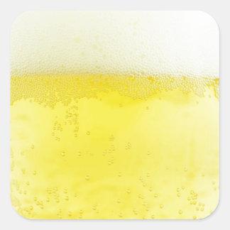 Beer texture design square sticker