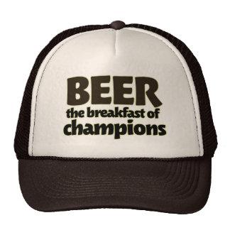 BEER the breakfast of champions Mesh Hat