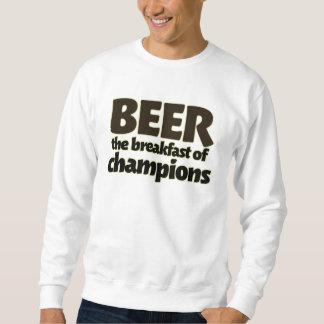 BEER the breakfast of champions Pullover Sweatshirt