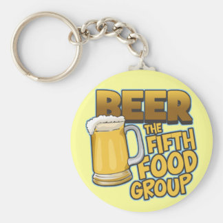 Beer: The Fifth Food Group T-Shirts & Gifts Basic Round Button Keychain