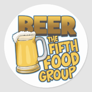 Beer: The Fifth Food Group T-Shirts & Gifts Sticker