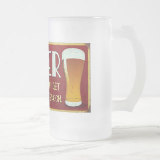 """""""Beer. The Reason I Get Up Every Afternoon."""" Frosted Glass Beer Mug"""