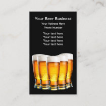 Beer Theme Beer Pilsners Business Card