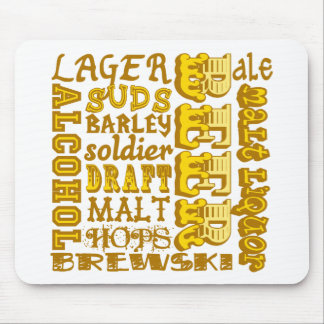 Beer Things Mouse Pad