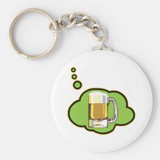 Beer Thinker Keychain