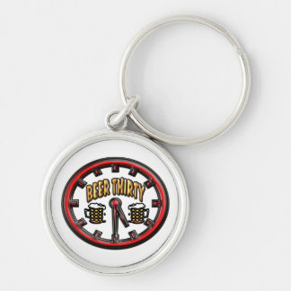 """Beer Thirty"" Clock Keychain"