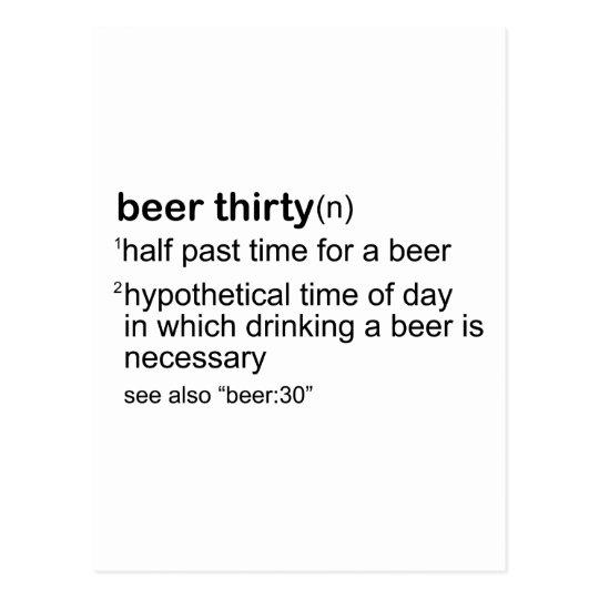 Beer Thirty Postcard