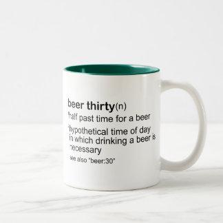 Beer Thirty Two-Tone Coffee Mug