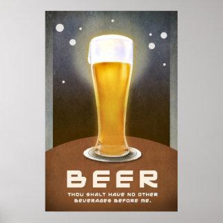 beer thou shalt have no other beverages before me poster