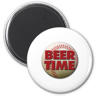 beer time 2 inch round magnet