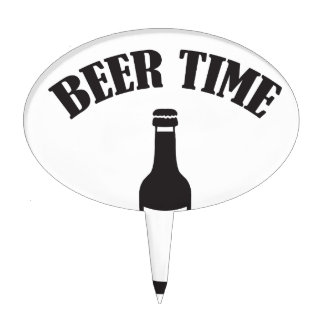 beer time cake topper