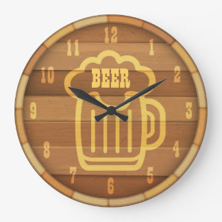 Beer Time Large Clock
