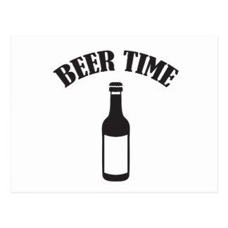 beer time postcard