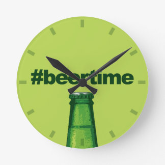 Beer Time Round Clock