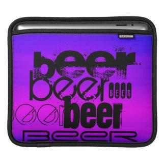 Beer; Vibrant Violet Blue and Magenta iPad Sleeve