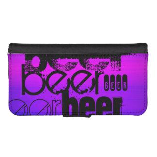 Beer; Vibrant Violet Blue and Magenta iPhone 5 Wallets