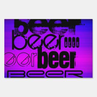 Beer; Vibrant Violet Blue and Magenta Yard Sign