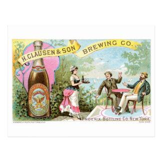 Beer Vintage Drink Ad Art Post Card