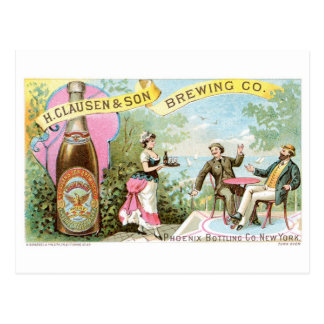 Beer Vintage Drink Ad Art Postcard