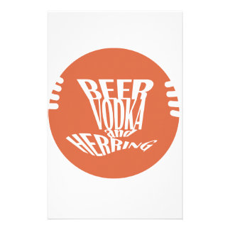 beer vodka and herring stationery