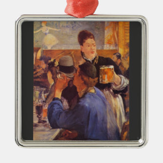 Beer Waitress by Edouard Manet Metal Ornament
