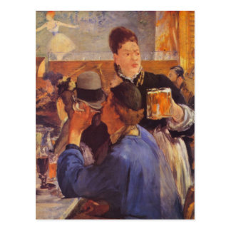 Beer Waitress by Edouard Manet Postcard