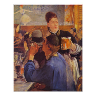 Beer Waitress by Edouard Manet Print